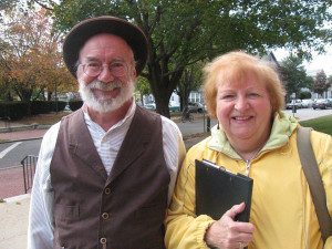 Fairhaven Tour Guide Chris Richards with Facilitator Jackie Rolnick